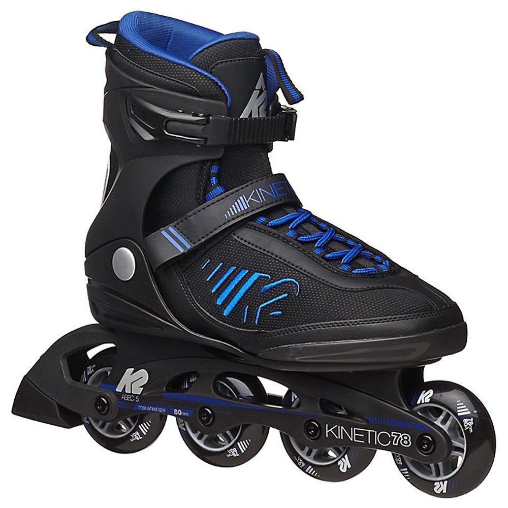 K2 Skate Men's Kinetic 78 Inline Skates, Black, 6.5