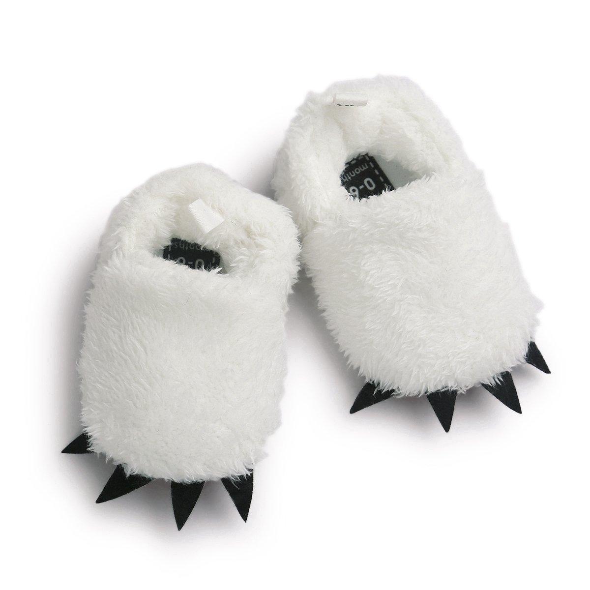 Vanbuy Baby Boys Girls Shoes Bear Paw Animal Slippers Boots Newborn Infant Crib Shoes WB28-White-L by Vanbuy (Image #2)