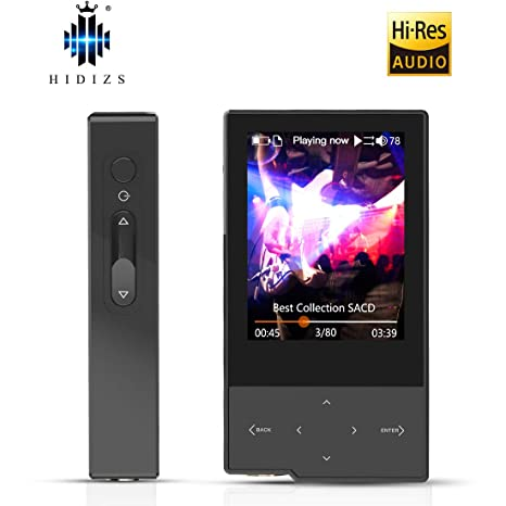 HIDIZS AP60 Ⅱ Hi Res Music Player, Bluetooth MP3 Player Portable Lossless  Hi-Fi Digital Audio Player Support Aptx/FLAC/DSD/AAC with SD Card Slot