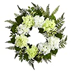 Nearly-Natural-24-Hydrangea-Berry-Wreath-White