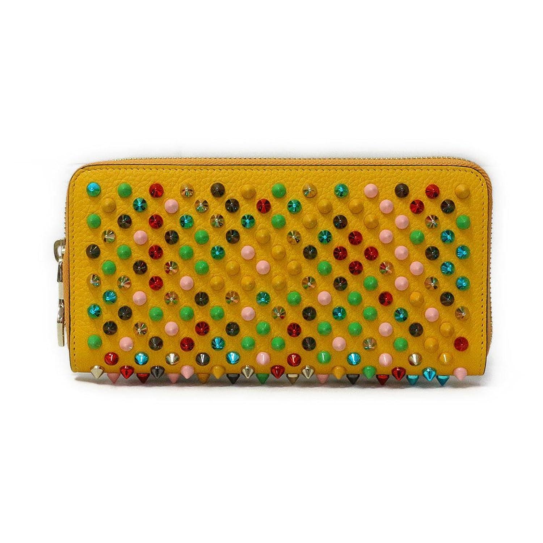 Christian Louboutin(クリスチャンルブタン) スパイク ラウンドファスナー長財布『Pantone Spike Zipped Continental Wallet』(Y073 FULL MOON/イエロー×マルチメタル) [並行輸入品] B076BDMLPW