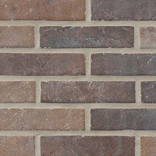- Vogue Tile Rustic Red Brick 2'' x 10''' Porcelain Floor and Wall Tile (5.17 sq. ft. / case)