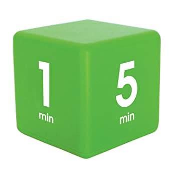 The Miracle TimeCube Timer, 1, 5, 10 and 15 Minutes, for Time Management,  Kitchen Timer, Kids Timer,