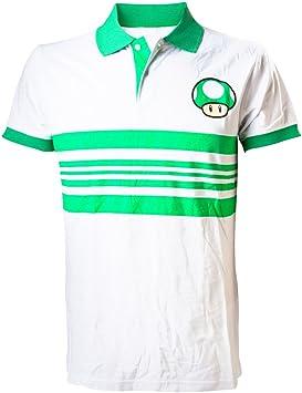 Nintendo Super Mario Bros - Polo (Talla XL), Color Blanco y Verde ...