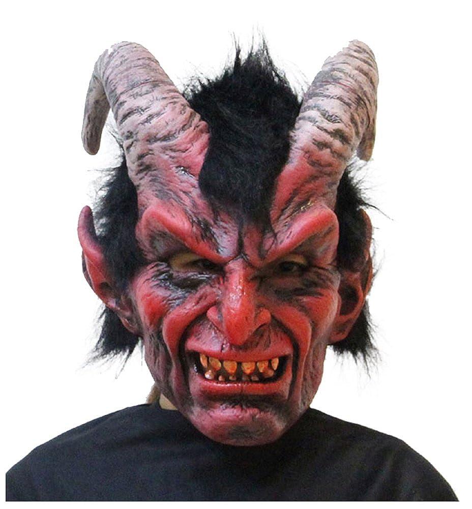 wanture Latex Demon Mask Halloween Cosplay Terrifying Costume Party Head Mask W-YN-MJ5020