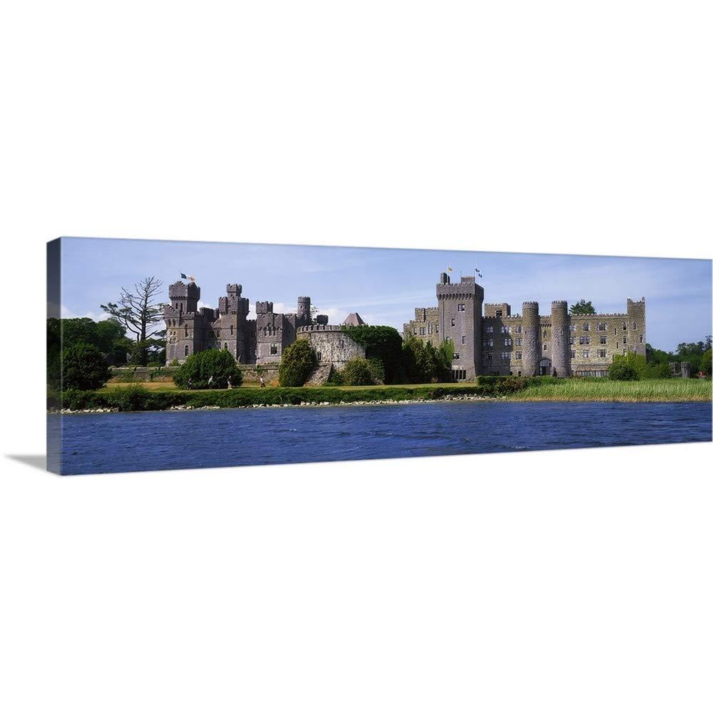 The Irishイメージコレクションプレミアムシックラップキャンバス壁アート印刷題名Ashford Castle near Lough Corrib、郡ゴールウェイ、アイルランド 60