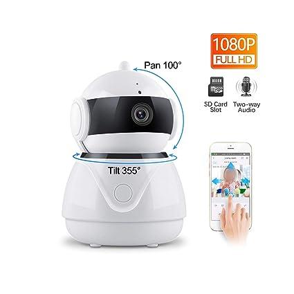 Amazon.com: Cámara IP inalámbrica FZOON 1080P de dos vías de ...