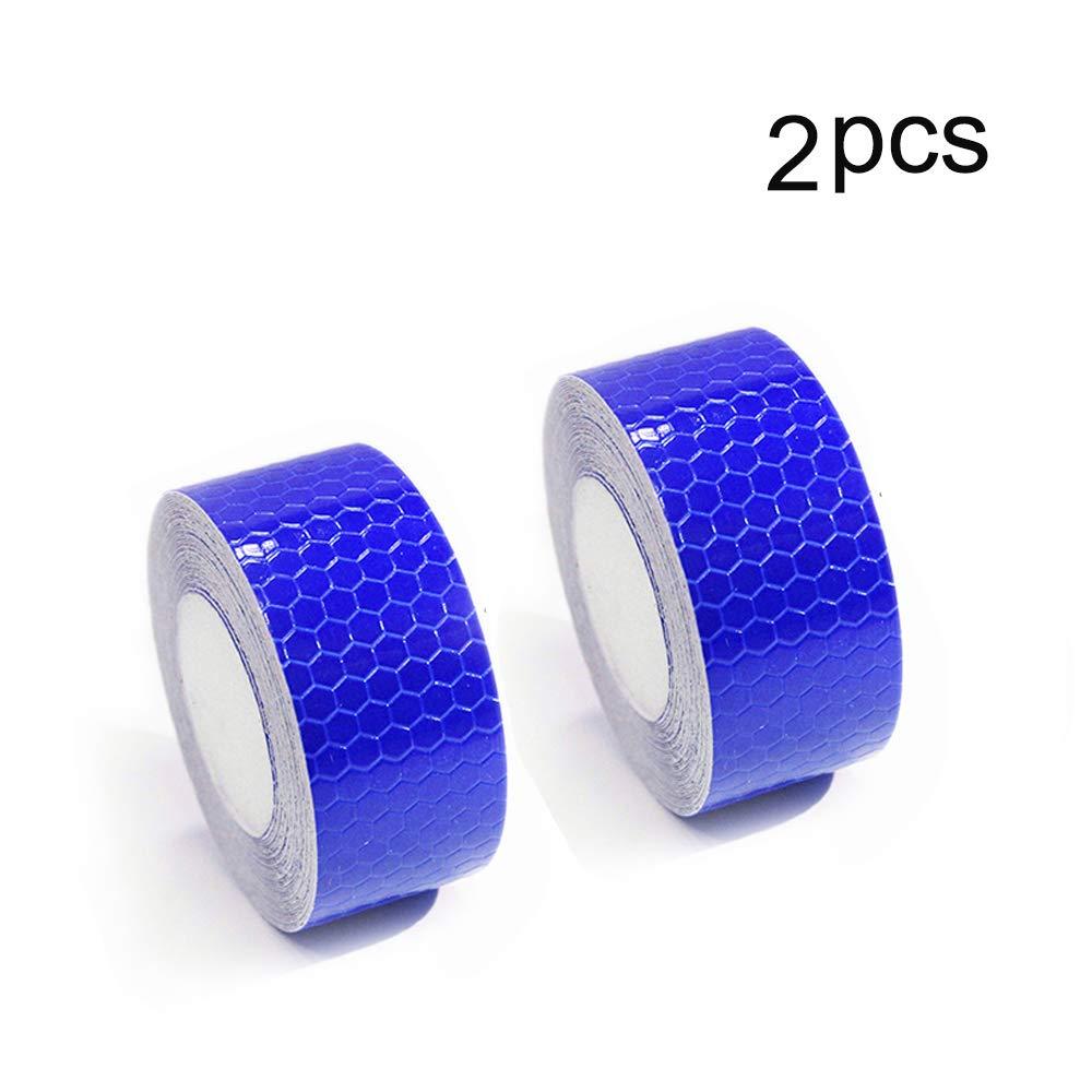 Reflective Tape Self Adhesive Warning Tape For Trucks Trailers Car Park Waterproof Self-Adhesive Trailer Reflector Tape-Reflective Tape 1″X9.8′ Blue 2 Pcs