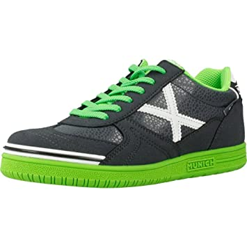 Munich G3 Kid - Zapatillas de fútbol Sala, NIÑO, Negro - (Negro/Verde): Amazon.es: Deportes y aire libre