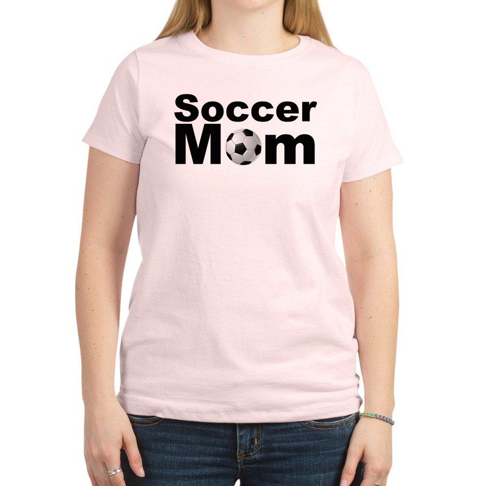 dfc507a8b Amazon.com: CafePress - Soccer Mom T-Shirt - Womens Cotton T-Shirt, Crew  Neck, Comfortable & Soft Classic Tee: Clothing