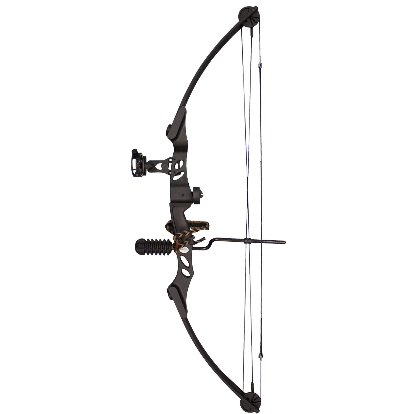 SAS Siege 55 lb Compound Bow w/ 5-Spot Paper Target - Black with Accessories