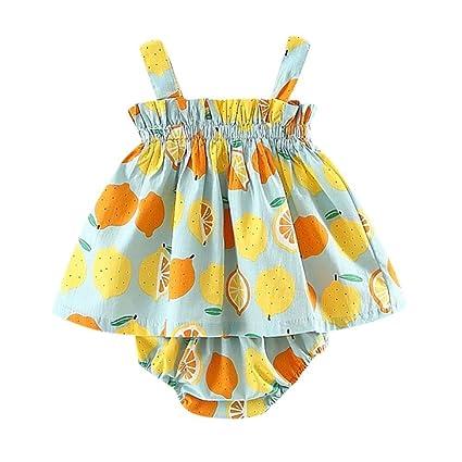 Niñas bebé vestido, Sonnena ❤ ❤ ❤ Niñas Impresión de fruta de verano sin manga correa vestido lindo tutú falda enegante y moda vestido para chica ...