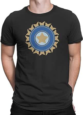 India Cricket Team Black Round Neck T-Shirt For Unisex