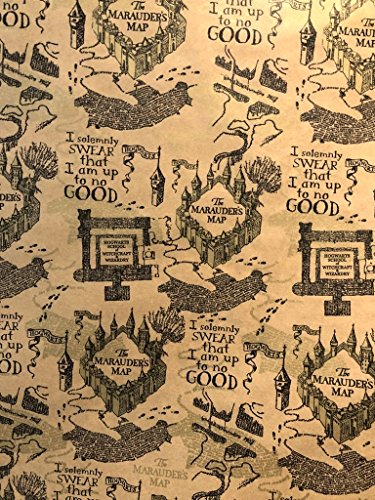 Art, Inc. Harry Potter Wrapping Paper Roll 'Marauders Map' by Art, Inc.