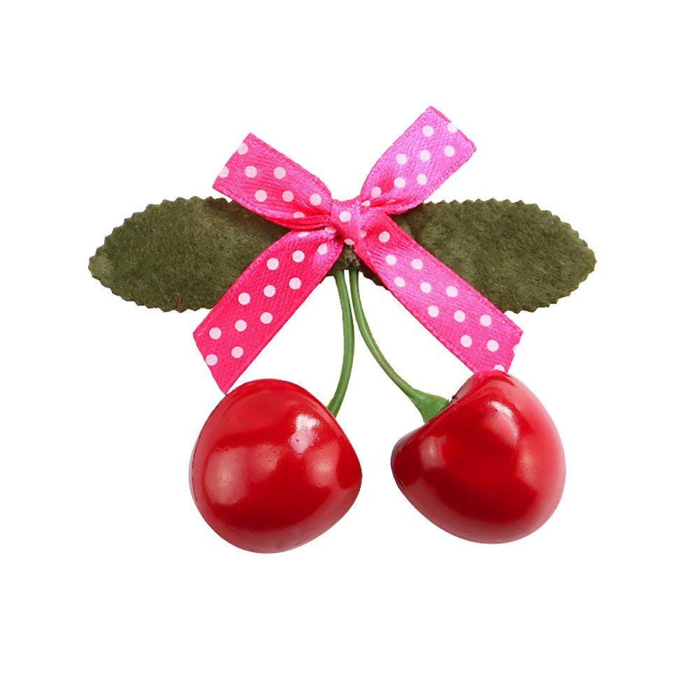 ❤️ Mealeaf ❤️ Kids Infant Baby Girl Hair Clip Cartoon Cherry Hairclip Hairpin (I,)