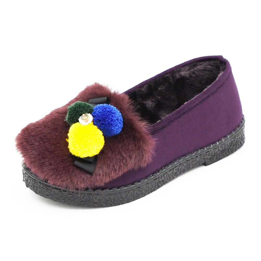 Sandalen GYHDDP Baumwolle weibliche Plattform Hausschuhe Warme Hausschuhe Monat Schuhe Taschen und Hausschuhe Warme 4 Farben erhältlich Größe optional (Farbe : B, größe : 40) D 4d6bc4