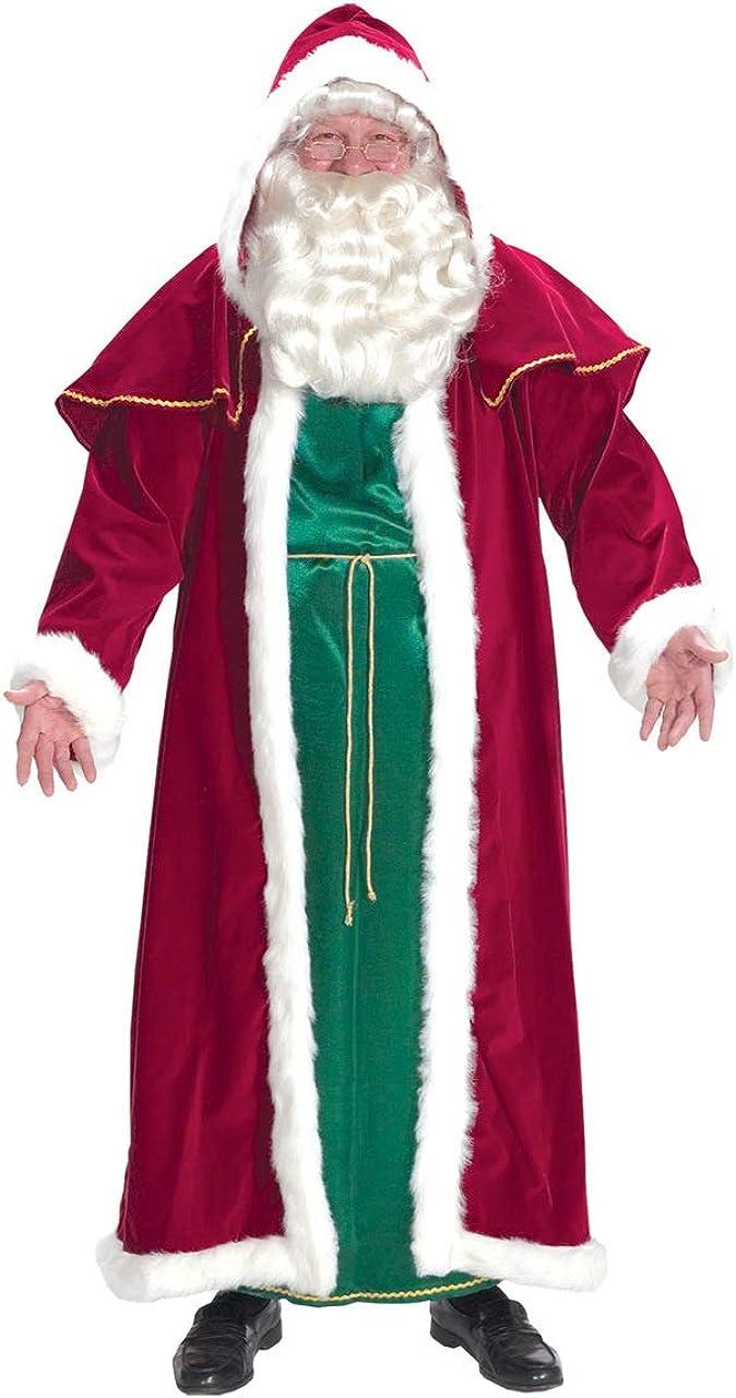Santa Claus Costume Men/'s Plus-Size Santa Suit Size 42-50 Ships next day