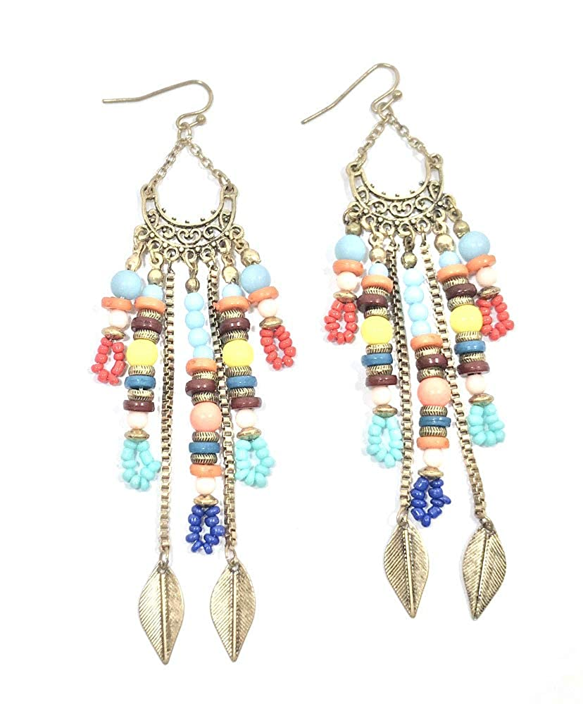 Beautiful Fashion Afghani Dangler Hook Earrings for Girls and Women by Krivi