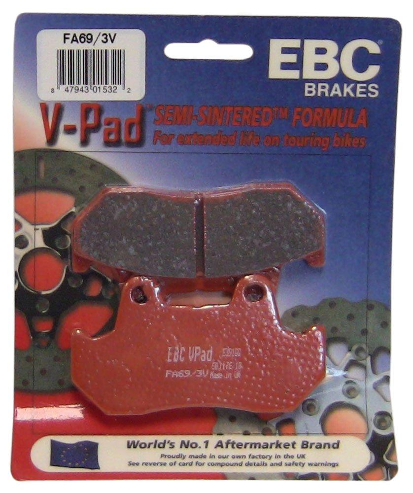 EBC Brakes FA69/3V Semi Sintered Disc Brake Pad