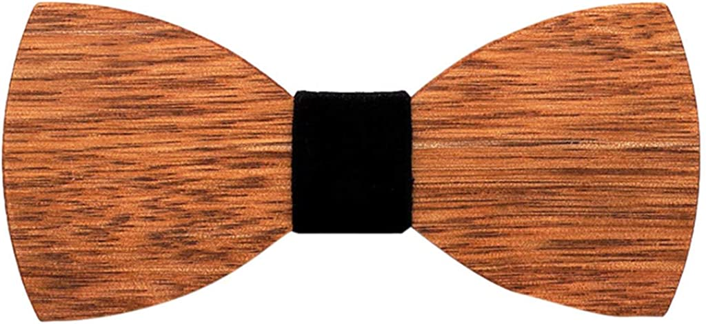 NAIHEN ⭐⭐⭐⭐⭐ Schleife Fliege fur Abschlussball Partei und sogar t/ägliche Gebrauch Jungen Holz handgefertigte Fliegeerstellbar H/ölzfliege Herren