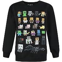 Minecraft Sprites Boy's Black Sweatshirt