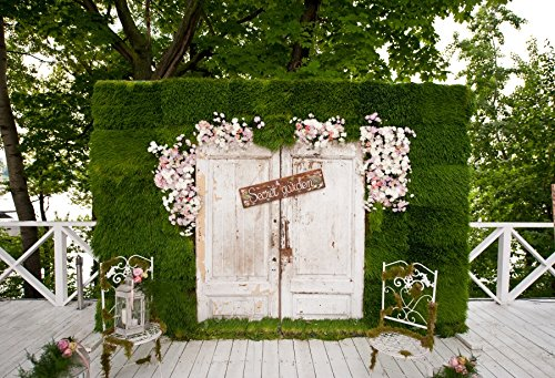 OFILA Secret Garden Backdrop 7x5ft Spring Flowers Blossoms F