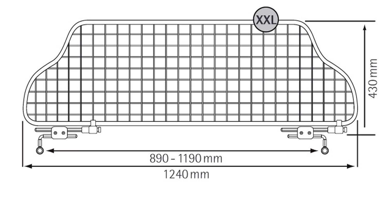 TGN-XXL bis jetzt TraficGard VW Caddy Life Hochdachkombi Bj: 2005 Trenngitter // Hundegitter // Gep/äckgitter
