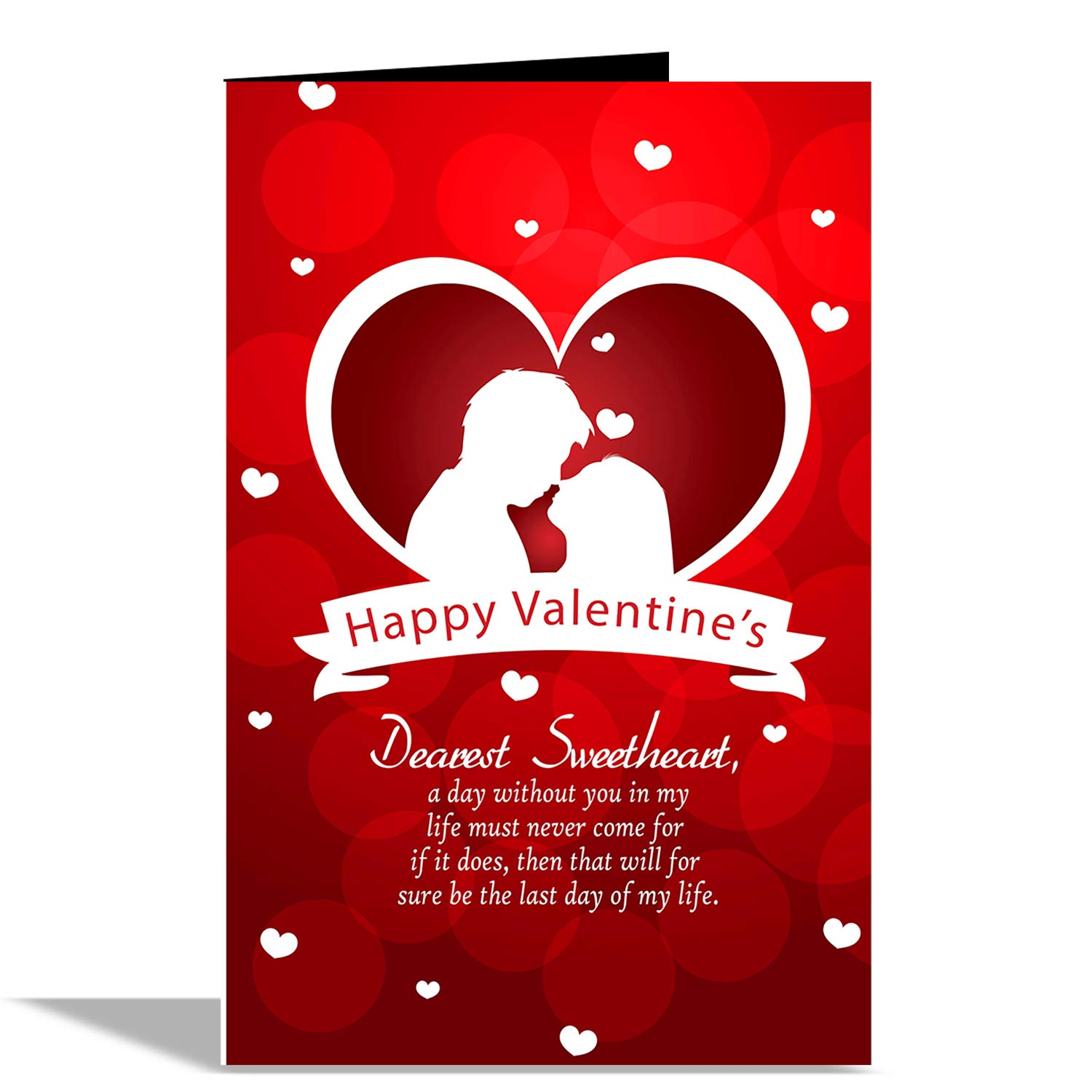 Alwaysgift Happy Valentine S Day Greeting Card With 1 Rose And Red Teddy Amazon In Office Products