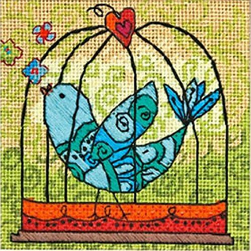 Dimensions 'Birdie' Love Bird Needlepoint Kit, 5'' x 5'' ()