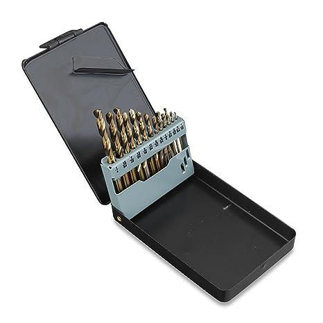 Cobalt Drill Bit Set >> Neiko 10178a Cobalt Coated Steel Drill Bit Set 1 16 Inch 1 4 Inch 13 Piece Set