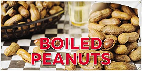 DEEP FRIED PEANUTS Advertising Vinyl Banner Flag Sign Many Sizes