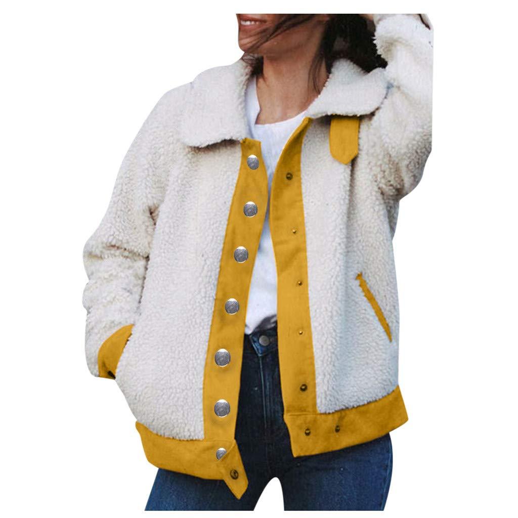 Women's Loose Clothes Coat Fuzzy Pullover Sweatshirt Soft Fleece Faux Fur Blouse Sweatshirt Stylish Outerwear Jacket by Lataw by Lataw