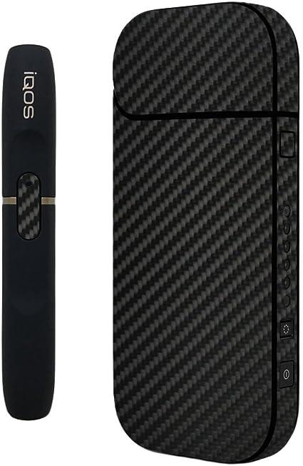 wraplus for iQOS アイコス 2.4 Plus 全31色 [ブラックカーボン] スキンシール ステッカー ケース 全面 シール