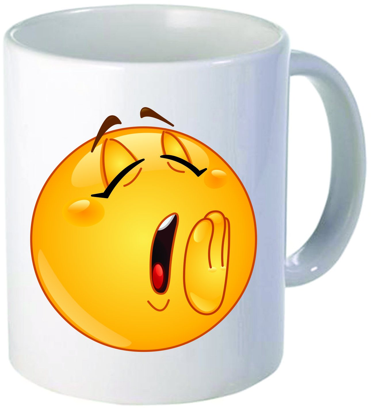 Smiley Face Coffee Mug Amazoncom Funny Coffee Mug 11oz Ceramic Emoji Sleepy Face