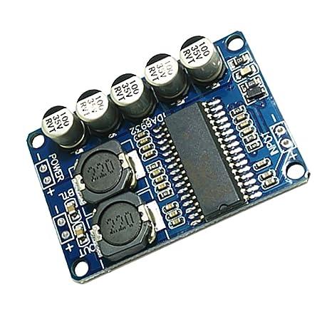 Sharplace Módulo Amplificador Digital Mono 35W Voltaje Funcionamiento 10-30V DC Fuente de Alimentación 2A
