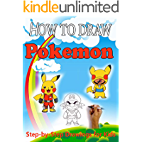 How to Draw Pokemons Characters for kids : Step-by-Step Drawings for Kids and People!