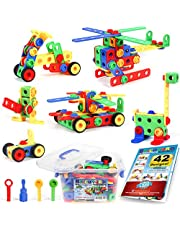 STEM Toys Kit | Educational Construction Engineering Building Blocks Learning Set Ages 3, 4, 5, 6, 7 Year Old Boys & Girls Brickyard | Best Kids Toy | Creative Games & Fun Activities