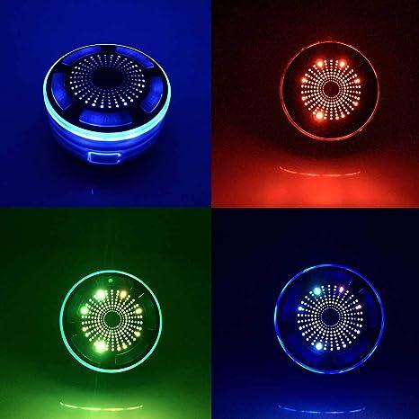 leegoal Ducha de bluetoth Altavoz, Altavoz inalámbrico portátil Resistente al Agua IPX7 con Ventosa Radio y Luces de LED Mood, Super Bass HD Sonido para ...