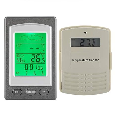Termómetro Digital, Termómetro Inalámbrico para Nevera, con La Pantalla LCD, Muestra La Temperatura