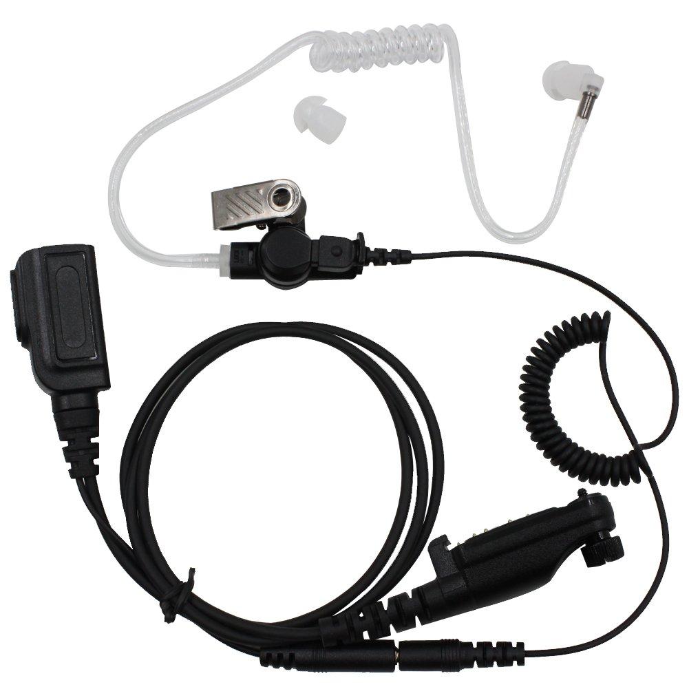 Tenq Split Air Tube Headset Headphone PTT Separate Earpieces for Hytera PD600 PD660 PD680 X1E X1P