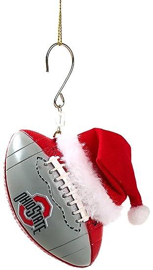 Ohio State Buckeyes Logo Football Christmas Ornament - Amazon.com: Ohio State Buckeyes Logo Football Christmas Ornament