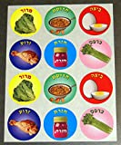 Judaica Pesach Passover Seder Dishes Stickers Children Teaching Aid Israel 120
