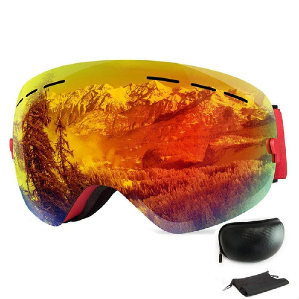 BZO Ski Snowboard Goggles Photochromic Men Women Skiing Glasses Uv Protection for Snowmobile All Weather Snow Red Glasses by BZO