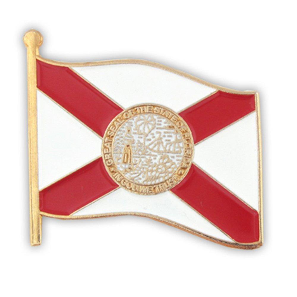 PinMart Florida US State Flag FL Enamel Lapel Pin 1''