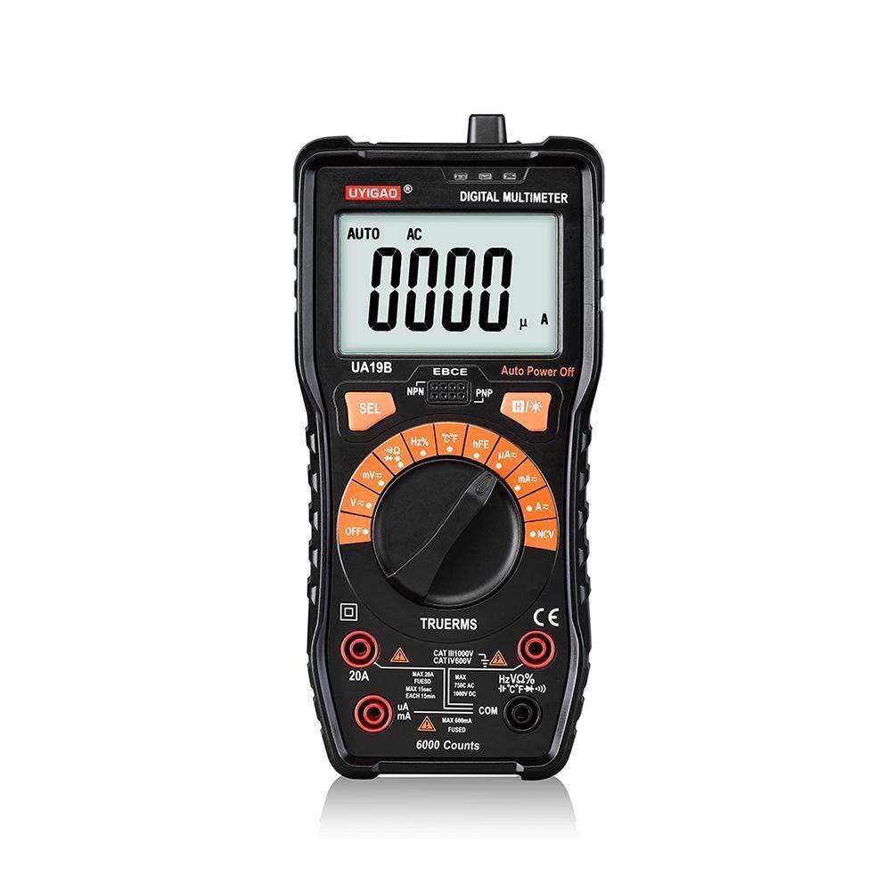 Digital UA19B Multimeter LCD Display Electric Voltmeter Ammeter Ohm Tester AC Testers Meter Digital Multimeters Auto Power Off Precise