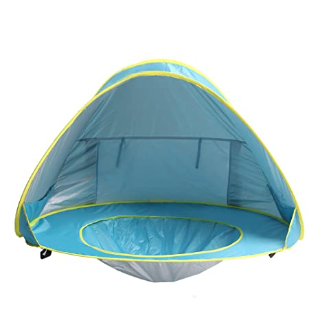 Sunba Youth Baby Beach Tent Baby Pool Tent UV protection Sun Shelters (Blue  sc 1 st  Amazon.com : uv baby sun tent - memphite.com