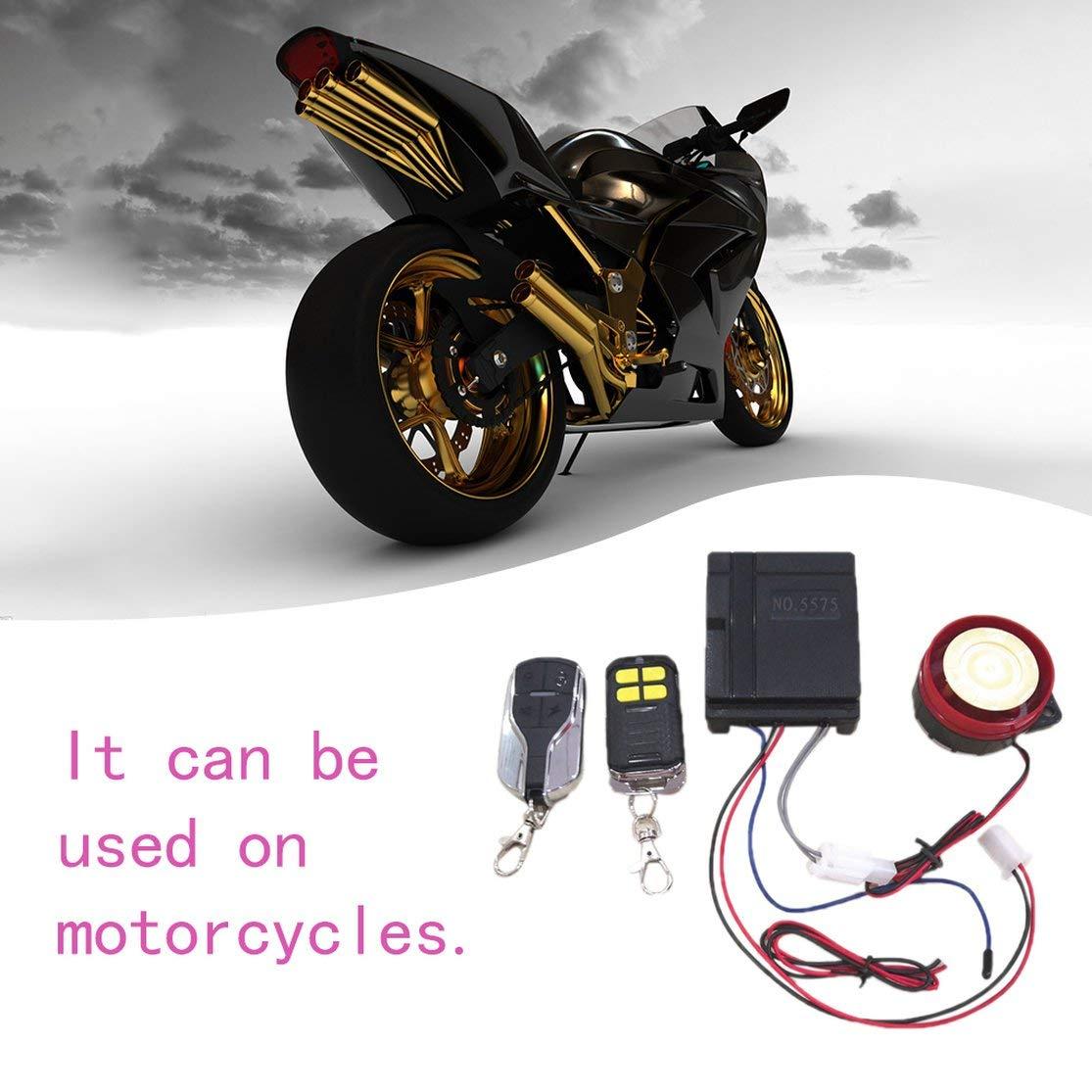 Candybarbar Sistema de Seguridad Inteligente inal/ámbrico Profesional de la Motocicleta Sistema de Alarma antirrobo Dispositivo antirrobo