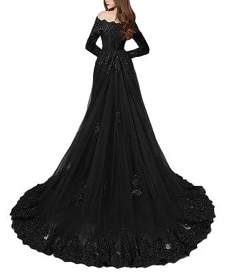 0e5b819c4a893 tutu.vivi Elegant Appliqeus Off Shoulder Velvet Formal Prom Dresses Long Sleeve  Evening Gowns with