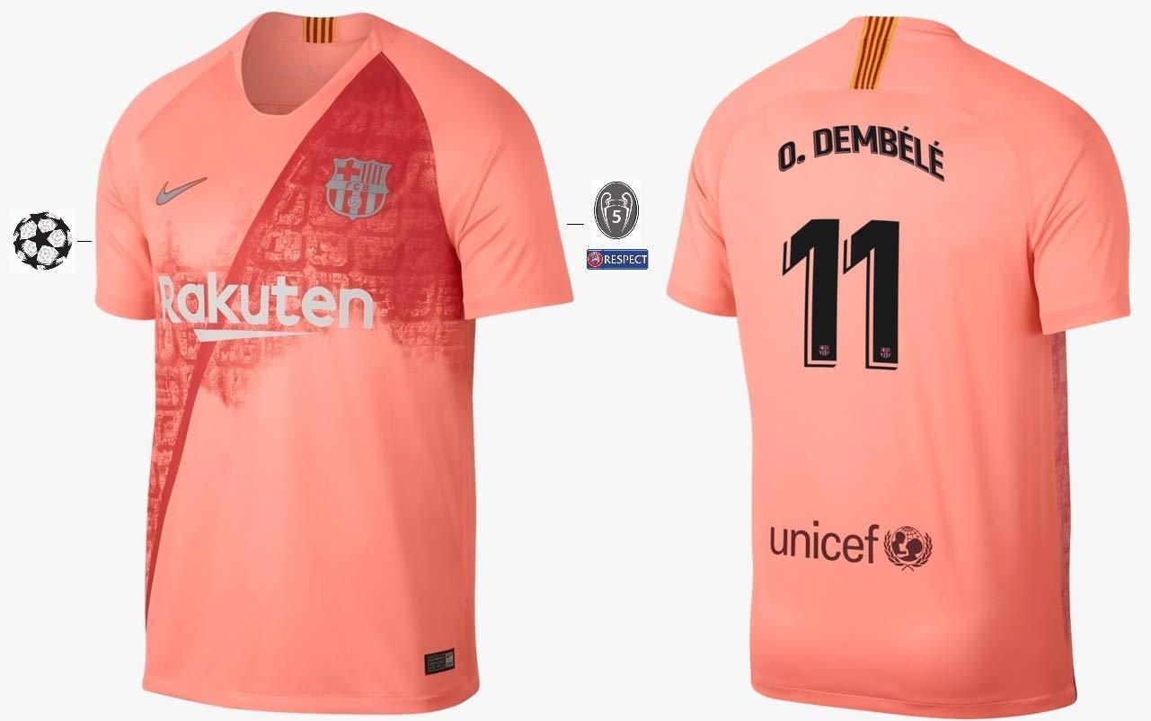 F.C. Barcelona Trikot Kinder 2018-2019 Third UCL - Dembele 11