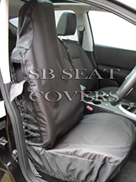 2 Fronts Heavy Duty Grey Waterproof Car Seat Covers CITROEN C4 GRAND PICASSO